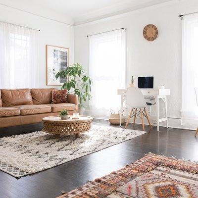 Interior boho minimalist apartment