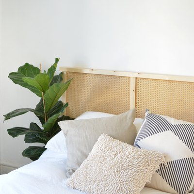 This Utilitarian IKEA Piece Gets Transformed Into a Beautiful Cane Headboard