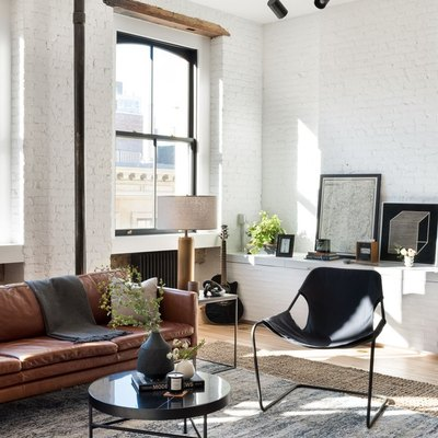 soho loft apartment with modern furnishings