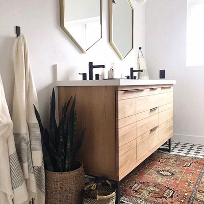Shapes and Patterns Create a Stunning Bathroom Design