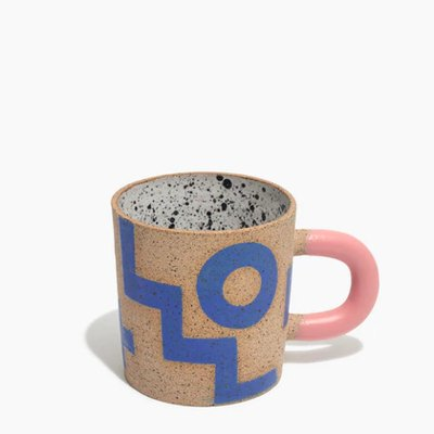 Recreation Center Ceramic Blue Doodle Mug