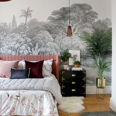 bedroom rug ideas with small rugs in a glamorous bedroom