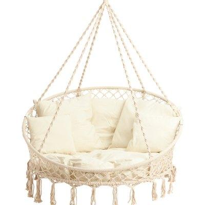 Bliss Hammocks Indoor-Outdoor Hanging Macrame Chair, $299.99