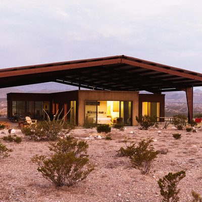 Modern home outside of Marfa