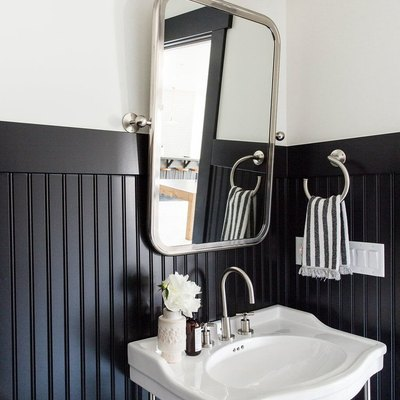 Warning: Your Grandma May Not Approve of These 6 Modern Bathroom Wainscoting Ideas