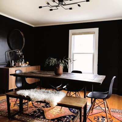 Trend Alert: Black Paint to Create a Moody (but Still Inviting) Dining Room