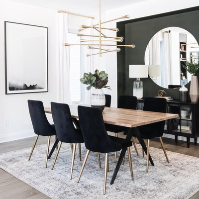 What's Black and White and Gold All Over? This Dining Room