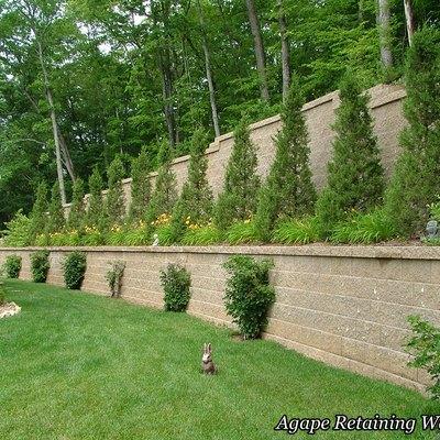 Retaining walls on slope