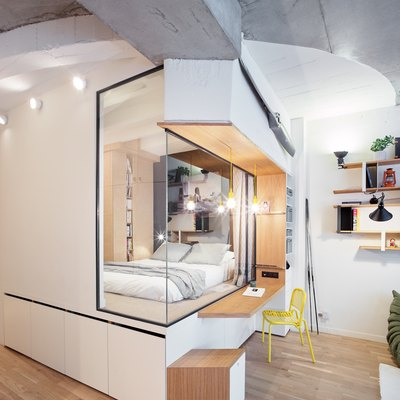 70 Storage Areas Were Added to This 710-Square-Foot Parisian Home