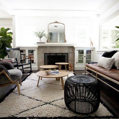 bohemian neutral living room