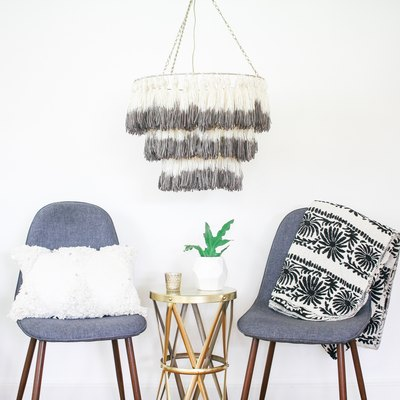 This DIY Boho Tassel Chandelier Will Light Up Your Home