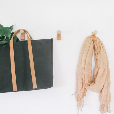 These DIY Leather and Wood Wall Hooks Are Just Oooh