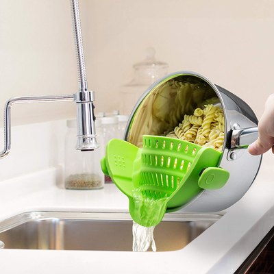 silicone pasta strainer