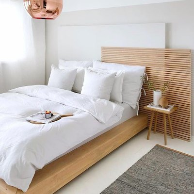 Copper and Wood in the Bedroom Is Where It's At
