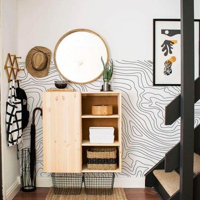Whimsical Wallpaper Makes Entryway Design Magic