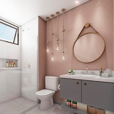 Prepare to Fall in Love With This Rosy Industrial Bathroom