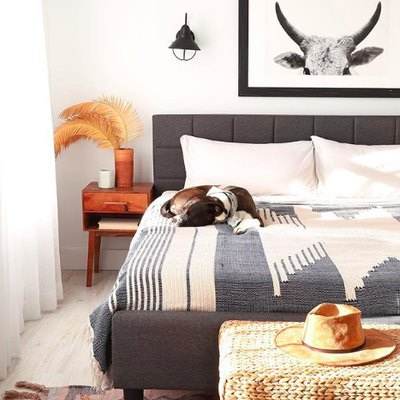 Patterns and Textures Abound in This Gorgeous Boho Bedroom