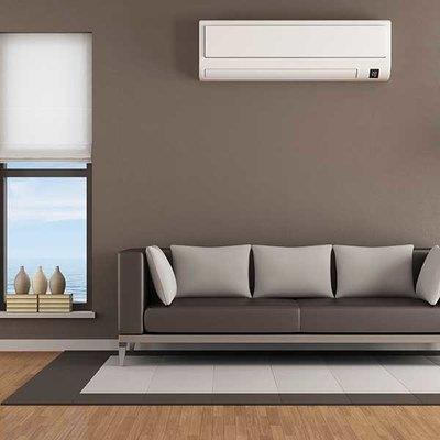 ductless mini-split in living room