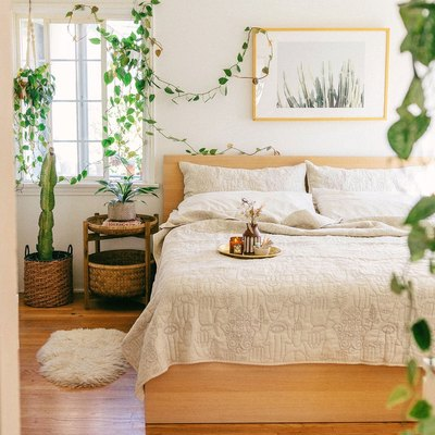 Justina Blakeney of Jungalow Shares 5 On-Trend Tropical Bedroom Ideas