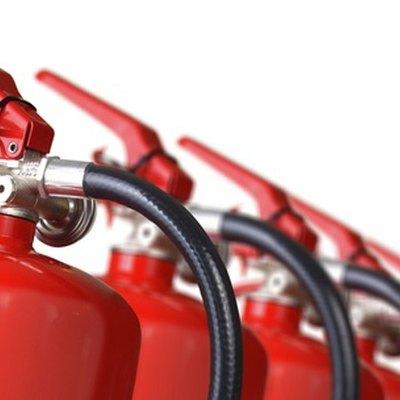 Fire extinguisher graphic.