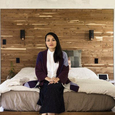 Creative director Lihui Ke in her bedroom