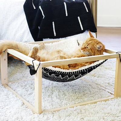 DIY Modern Hammock Bed for Cats