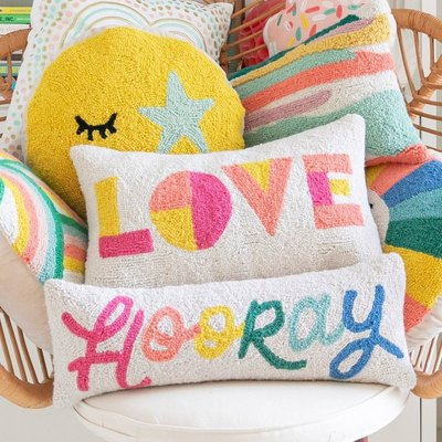 pillows on a chair