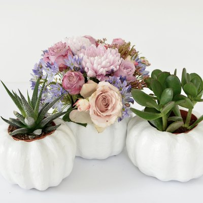 DIY Pumpkin Planters for Flowers