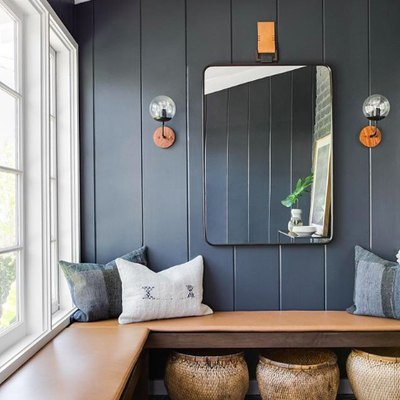 Rich Leather and Inky Blue Is a Match Made in Design Heaven
