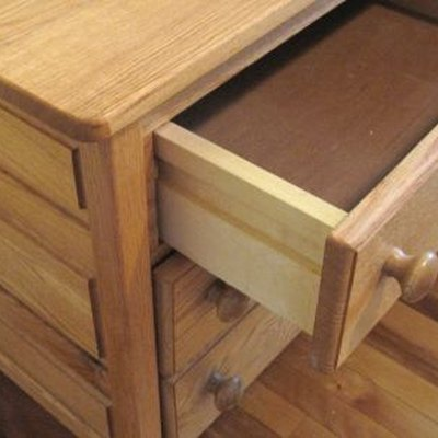 Half open drawer.