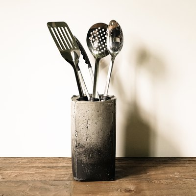 This Concrete Kitchen Utensil Holder Feels More Industrial Art Than DIY