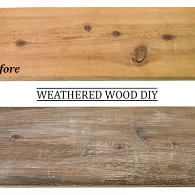 How to Make New Wood Look Weathered and Reclaimed (Farmhouse Chic!)