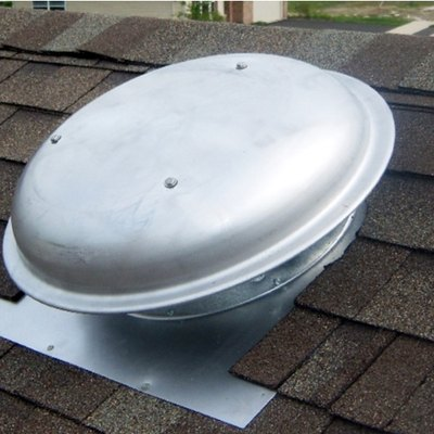 Roof attic fan.