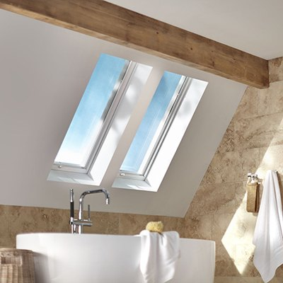 Bathroom with skylights