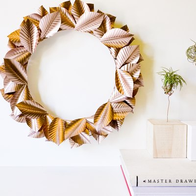 This Seasonal Rosegold Wreath Can Be Made Using Recycled Aluminum Cans