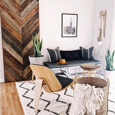 Give Your Living Room Desert-Chic Vibes With Patterns and Texture