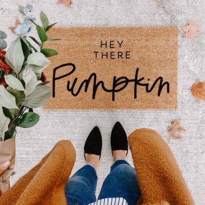 fall-inspired doormat for front door