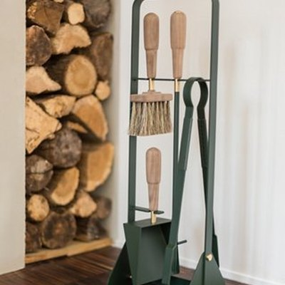 Emma Companion Fire Tool Set, Forest Green