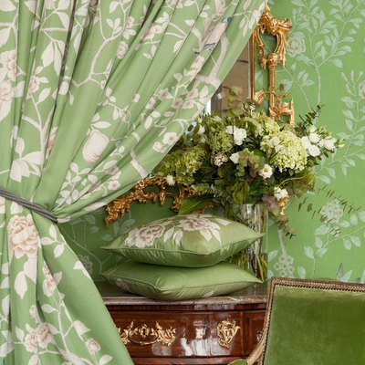 de grounay green fabric