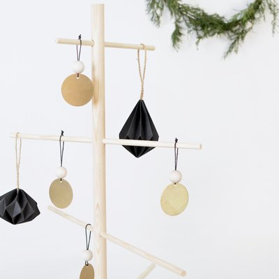 DIY Brass and Wood Tree Ornaments
