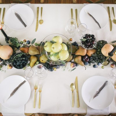 Edible thanksgiving table runner