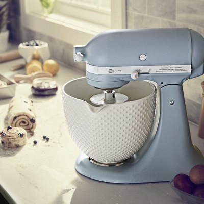 misty blue kitchenaid stand mixer