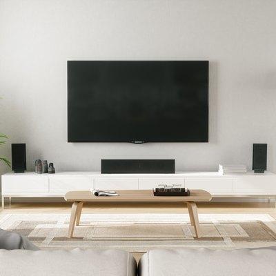 Scandinavian Style Modern Living Room With Entertainment Center