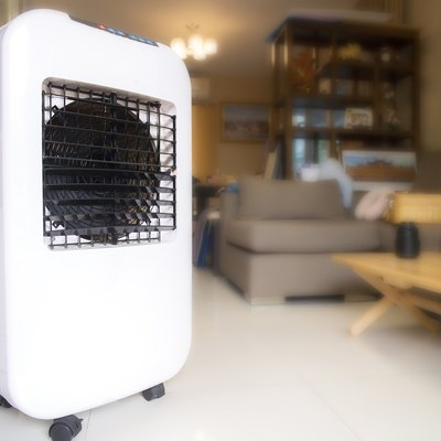 Evaporative Air Cooling Fan Placed in the living room