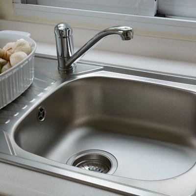 washbasin in a kitchen
