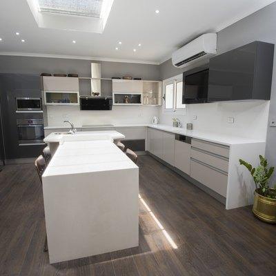 Modern kitchen design in a luxury apartment