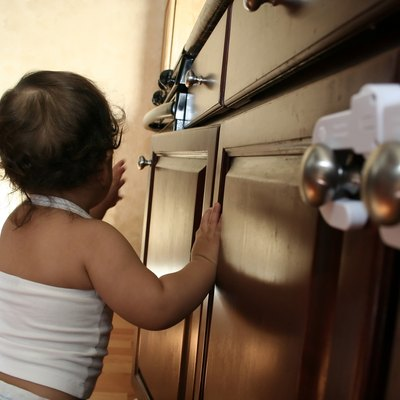 Child Proofing 3 Toddler Exploring Kitchen