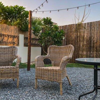 Gravel Patio and Outdoor Furniture