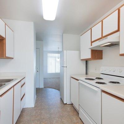 Empty old kitchen