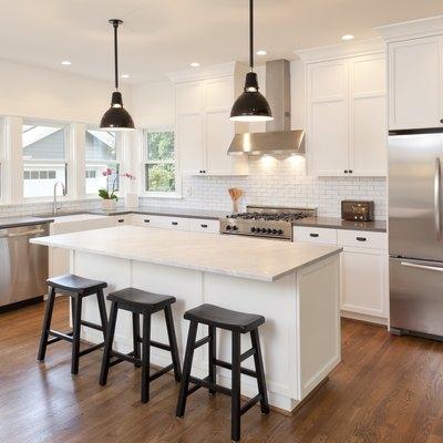 New kitchen in modern luxury home